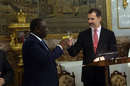 The President of the Republic of Senegal visited the Zarzuela Palace